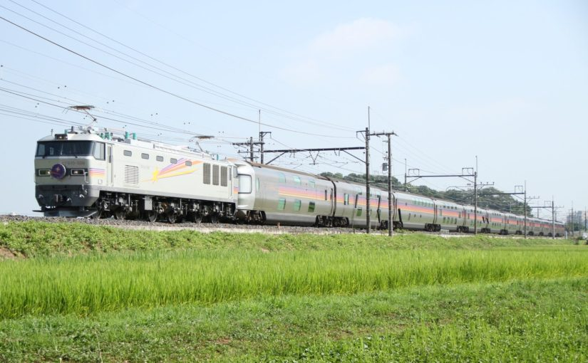 Overnight express train Cassiopeia, very popular overnight train between Tokyo and Sapporo