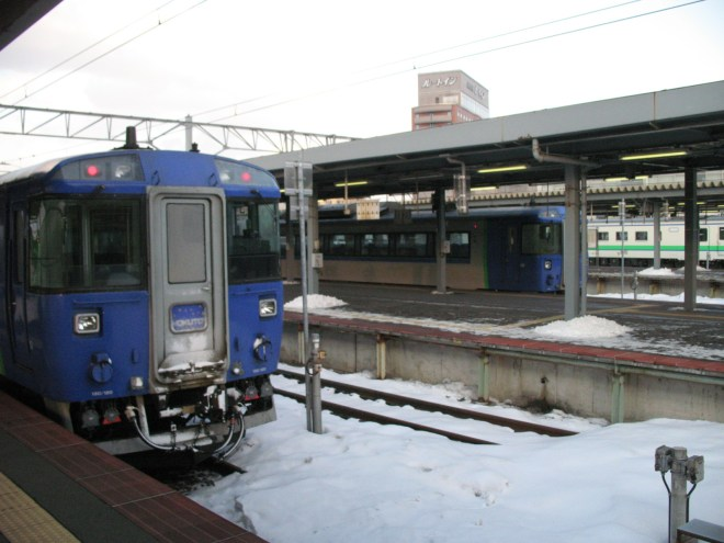 I arrived at Hakodate from Minami-Chitose by Ltd Exp Hokuto 183 series. (C) JP Rail