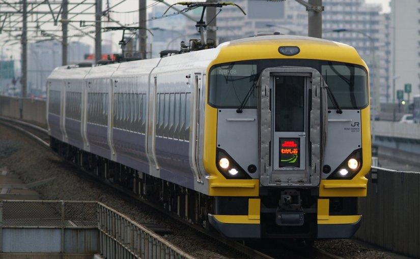 Limited Express Wakashio. Access to Katsuura and Awa-Kamogawa in Boso peninsula from Tokyo