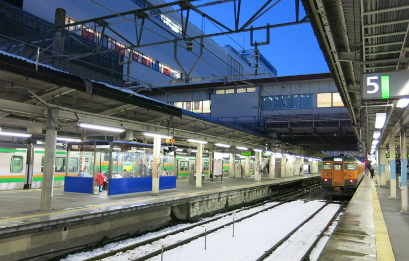 Takasaki station guide. It's junction to Nagano, Niigata, Kusatsu and Tomioka Silk Mill.