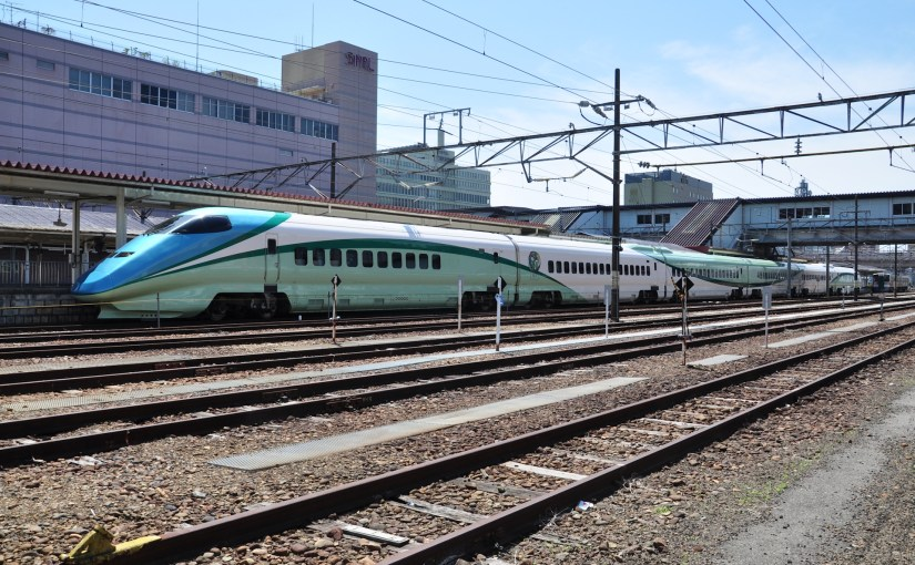 Toreiyu Tsubasa. First ever Shinkansen train that has foot bath.