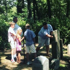 The Michael & Carey Rivers Family with Uncle John Rivers, James Island, South Carolina, on the spot where Riversville once stood, later renamed Secessionville, Fall 2017