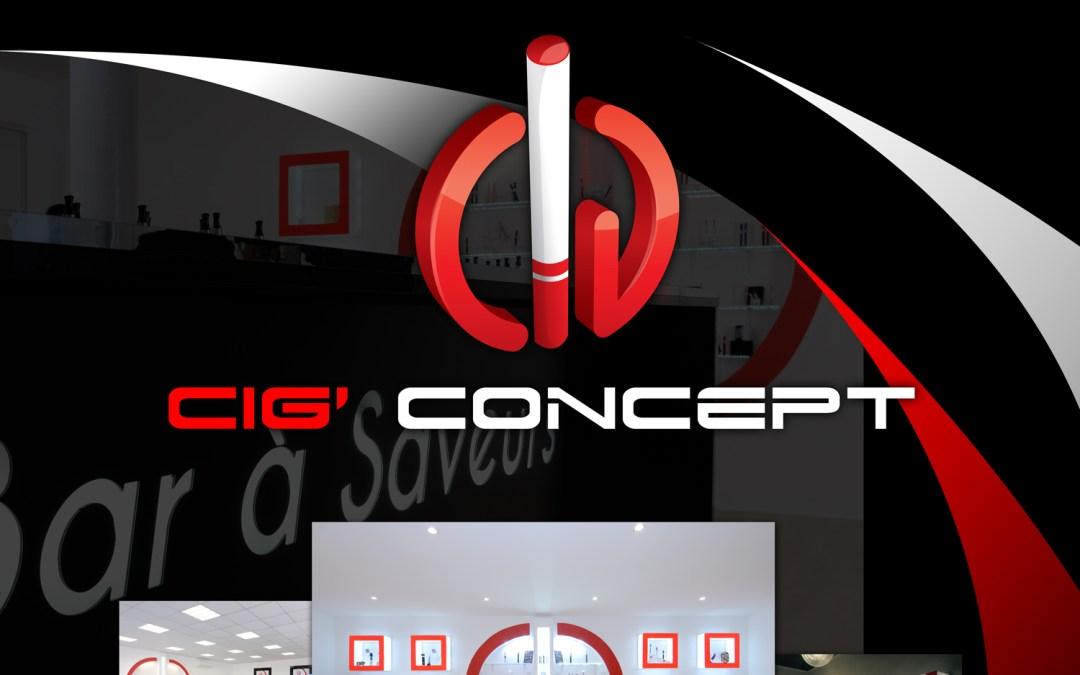Création d'une affiche publicitaire pour Cig Concept