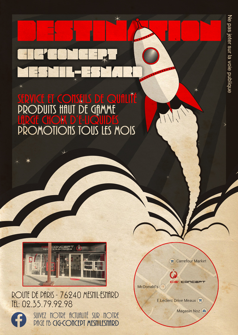 flyer illustration flat design rétro vintage
