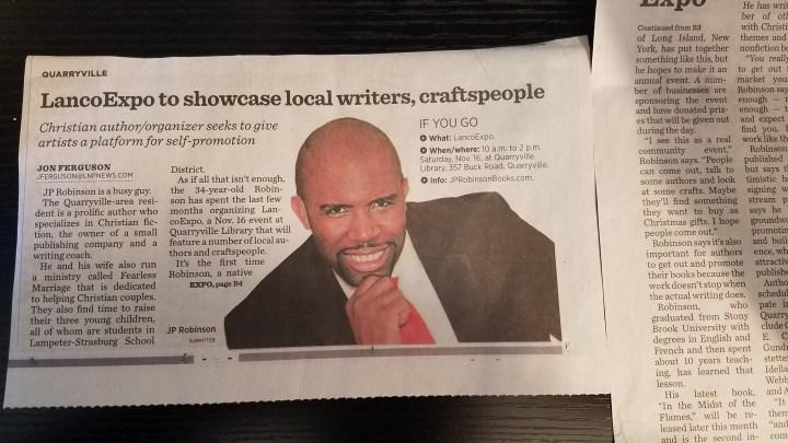 JP Robinson in newspaper