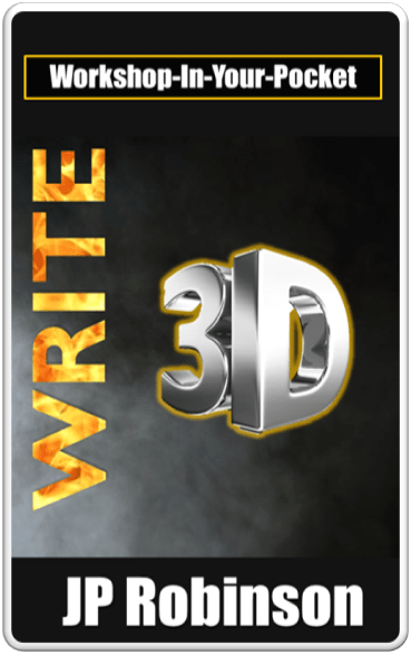 E-copy of acclaimed author JP Robinson's book Write 3D, a self-help guide for authors.