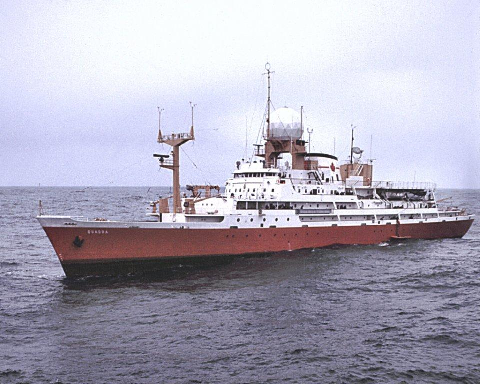 The CCGS Quadra, and her sistership CCGS Vancouver, took turns occupying Station Papa for 7 weeks at a time from 1967 - 1981 when they were withdrawn.