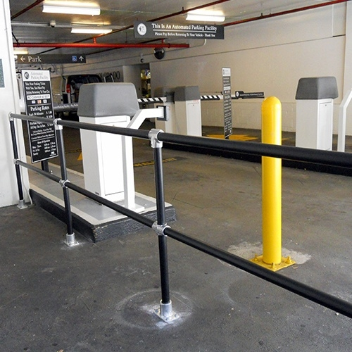 Steel Handrail Sleeved In Plastic J P Signs And Safety | Black Iron Pipe Handrail | Custom Iron | Galvanized Pipe | Stairway | Aluminum Pipe | Water Pipe