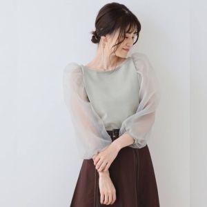 日本Nice Claup 春夏 拼接 百摺 七分裙 長裙 半身裙 半截裙 skirt 