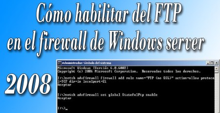 como habilitar ftp en el firewall de windows server