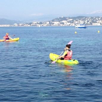 Setting off on the kayaks