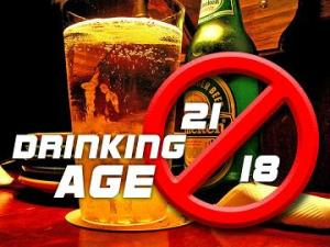 Drinking age 18 and 21