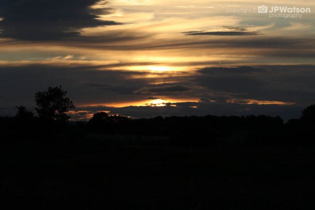 Awesome Sunset Over Staveley Nature Reserve