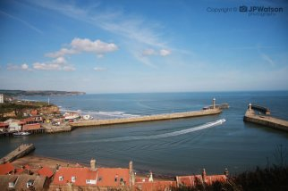 Whitby Harbour From A Distance