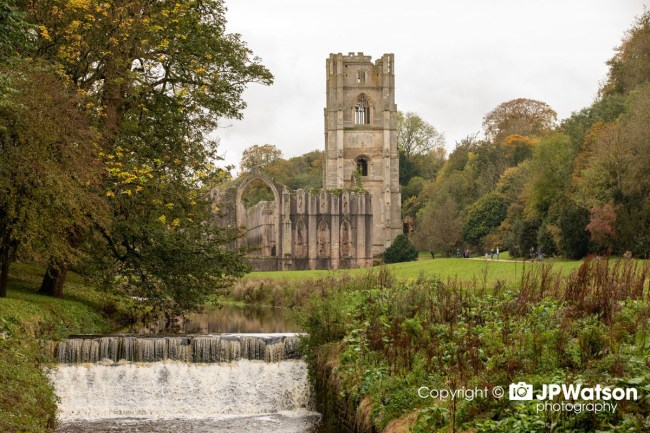 Waterfall-In-Front-Of-Fountains-Abbey