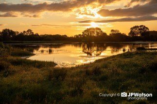 Sunrise Over The Lake At Staveley