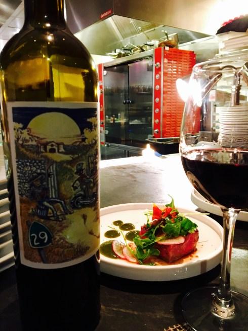 Ghost wine and tenderloin