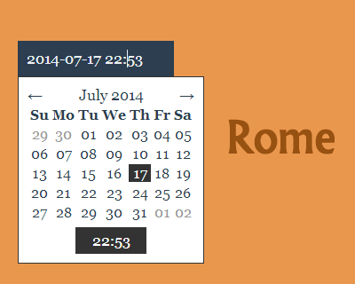 Rome – Customizable  Date/Time Picker