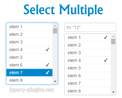 Select Multiple – jQuery Plugin for Custom Select Elements