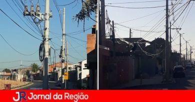Morador reclama de fios soltos no Novo Horizonte