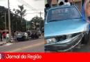 Carros batem em cruzamento no Caxambu