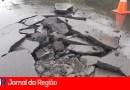 Chuvas danificam asfalto da Ferroviários e Avenida São Paulo