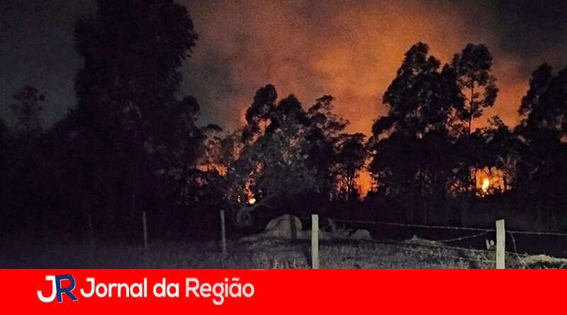 Incêndio em Itupeva. (Foto: Divulgação)