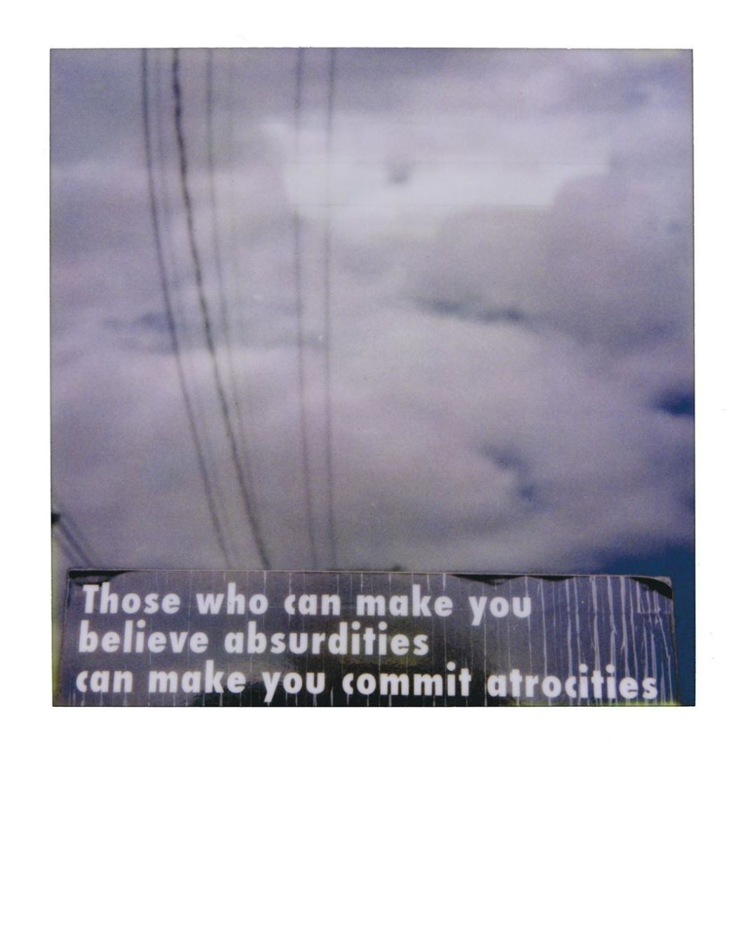 I guess we need to keep revisiting this.  Portland, 2009. #voltaire #polaroid