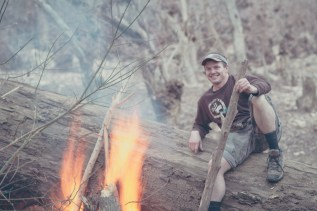 Cameron and his fire.