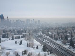 Mist over downtown Calgary