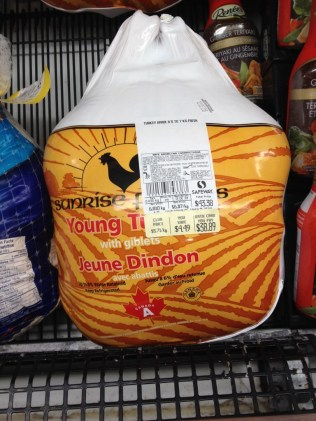 This was how much the same turkey would have cost after the 99 cents per pound sale