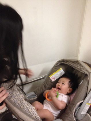WY playing with baby E