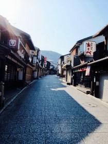 Quiet street up towards Kiyomizudera