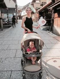 Baby E and I at Higashiyama District