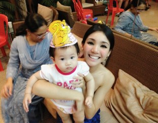 Baby E with Mommy