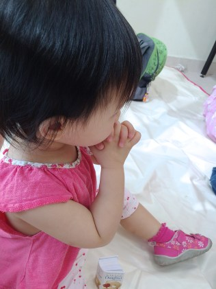 Little E praying