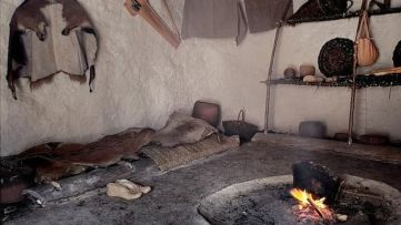 Insides of a neolithic house