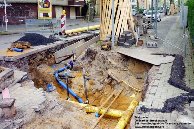 Soll der Vergangenheit angehören: Straßen aufreißen, um Breitbandkabel einzubauen