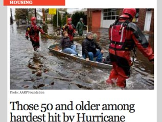 """Those 50 and Older Among Hardest Hit by Hurricane Sandy,"" Conversionplanet & USA Today"