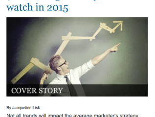 """5 marketing trends you need to watch in 2015,"" iMedia Connection"