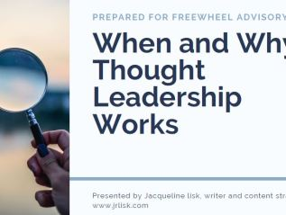 Thought leadership workshop for Freewheel