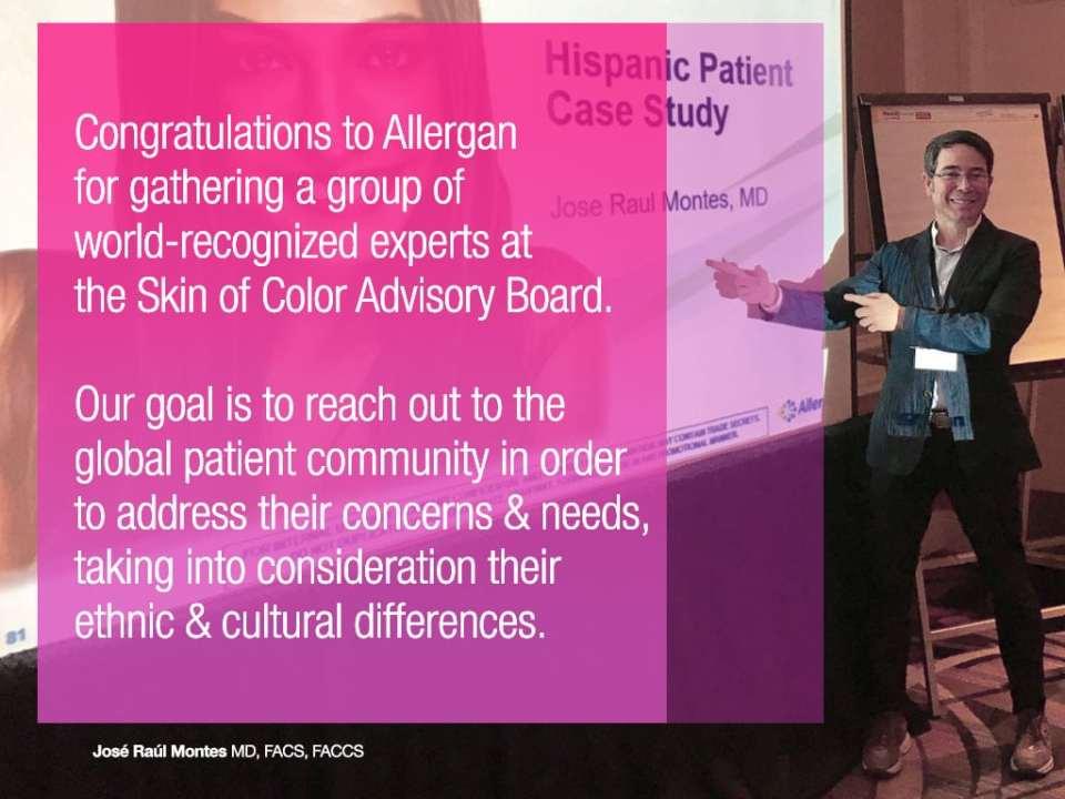 Allergan Skin of Color Advisory Board Meeting 2