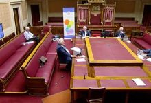 Pigeon interrupts Stormont committee assembly