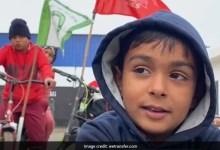 पंजाब में बच्चों ने साइकिल रैली निकाल लोगों को दिल्ली पहुंचने के लिए किया जागरूक
