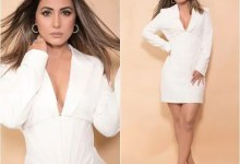 Hina Khan supplies predominant 'Boss Lady' vibes in this corset tux mini costume — ogle pics