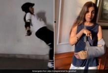 जेनेलिया डिसूजा कर रही थी स्केटिंग और बिगड़ गया बैलेंस, लग गई चोट…देखें Video