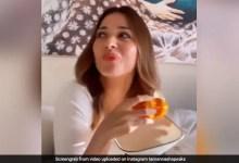 तमन्ना भाटिया ने 'डोन्ट रश चैलेंज' पर इस अंदाज में खाया आम, वायरल हुआ Video