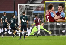 West Ham boost high four potentialities with recover from Leeds as Patrick Bamford has evening to omit in entrance of aim