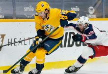 Predators' Fabbro to own listening to Wednesday for elbowing Hurricanes' McGinn