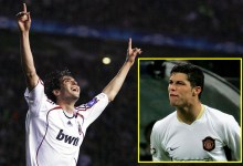 When AC Milan myth Kaka anxious Manchester United in the Champions League at Used Trafford, helping him beat 'disappointing' Cristiano Ronaldo to a Ballon d'Or